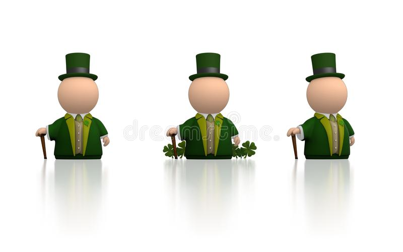 Download Irish Icon For St Patricks Day - White Version Stock Illustration - Image: 18668075