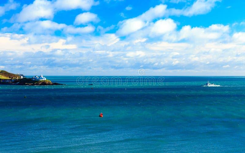 Irish landscape. coastline atlantic coast County Cork, Ireland. Irish landscape. Coastline atlantic ocean coast scenery cloudy blue sky, Church Bay County Cork royalty free stock image