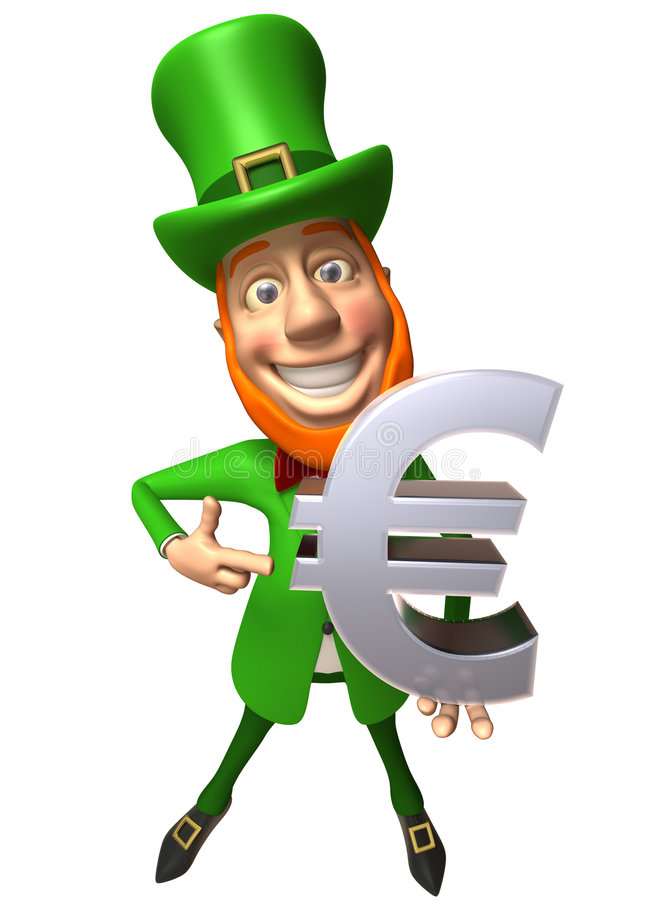 Download Irish Leprechaun With An Euro Stock Illustration - Image: 5821771