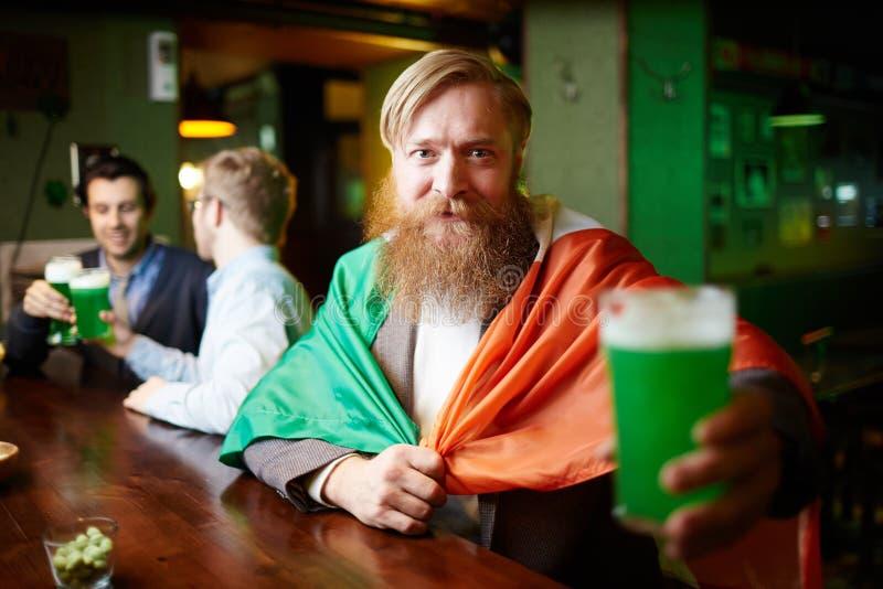 Irish man stock image