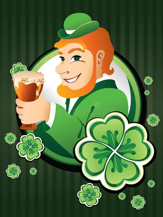 Download Irish man with beer stock vector. Illustration of holiday - 11522542