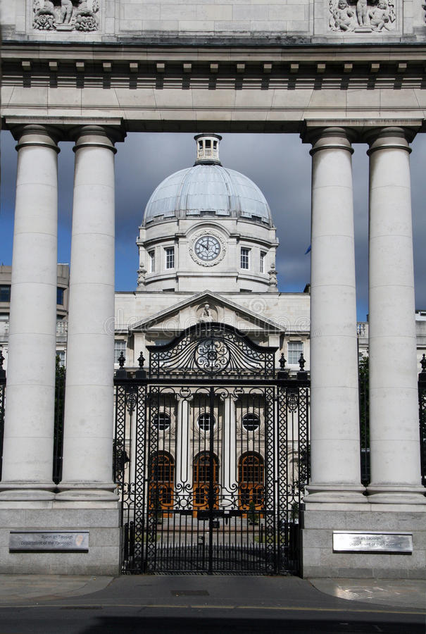 Irish Parliament House - Dublin Ireland royalty free stock photography