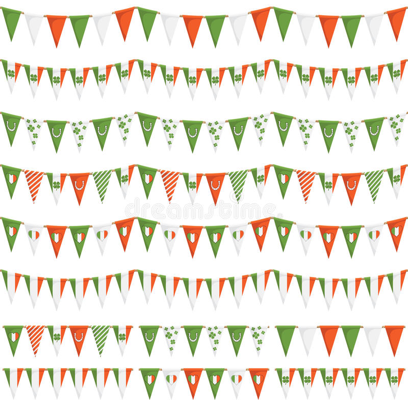 Download Irish party bunting stock vector. Image of horizontally - 28566414