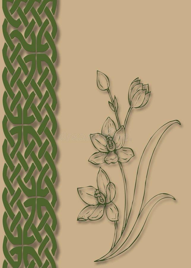 Irish Print royalty free illustration