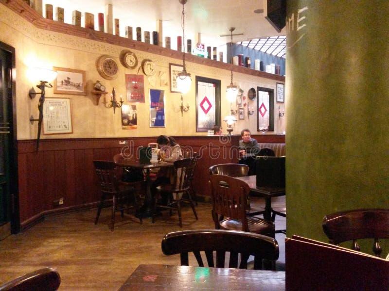 Irish pub interiors royalty free stock images