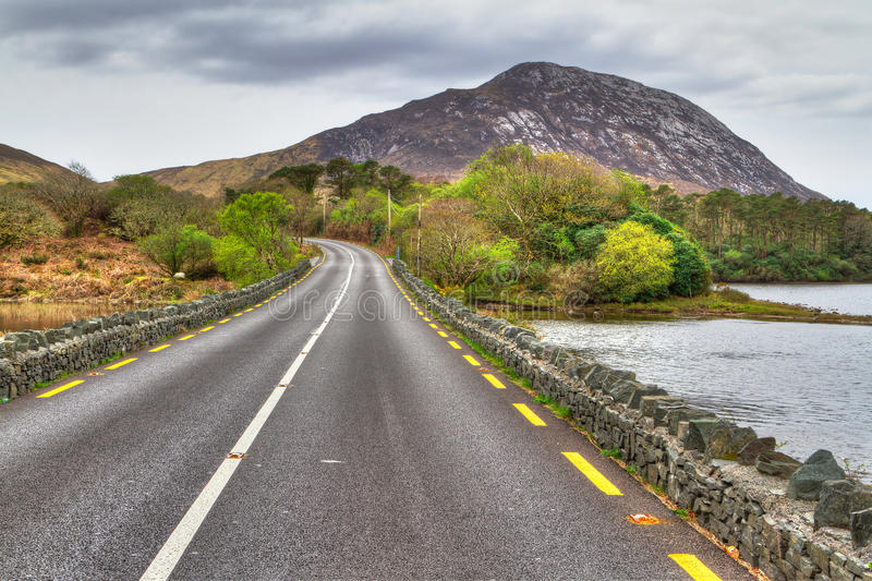 Download Irish Road With Mountain View Stock Image - Image: 24574087