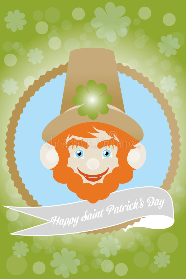 Irish Saint Patricks Day - Stock Illustration. Card for Irish Saint Patricks Day vector illustration