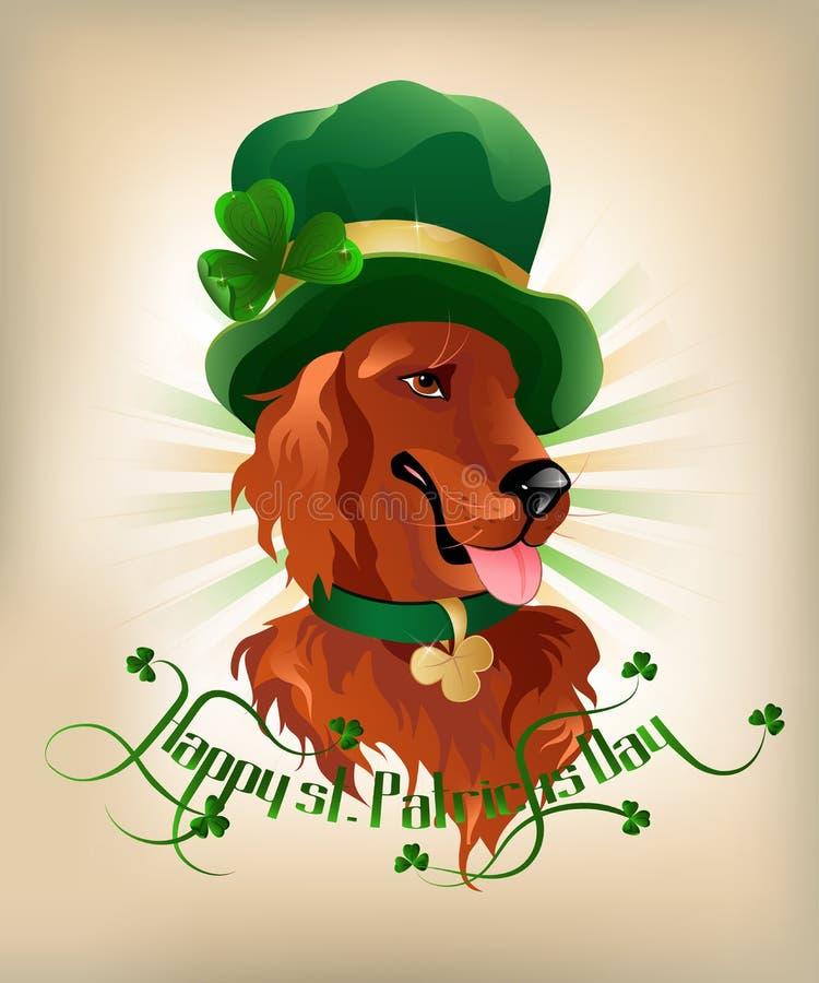 Irish Setter royalty free illustration