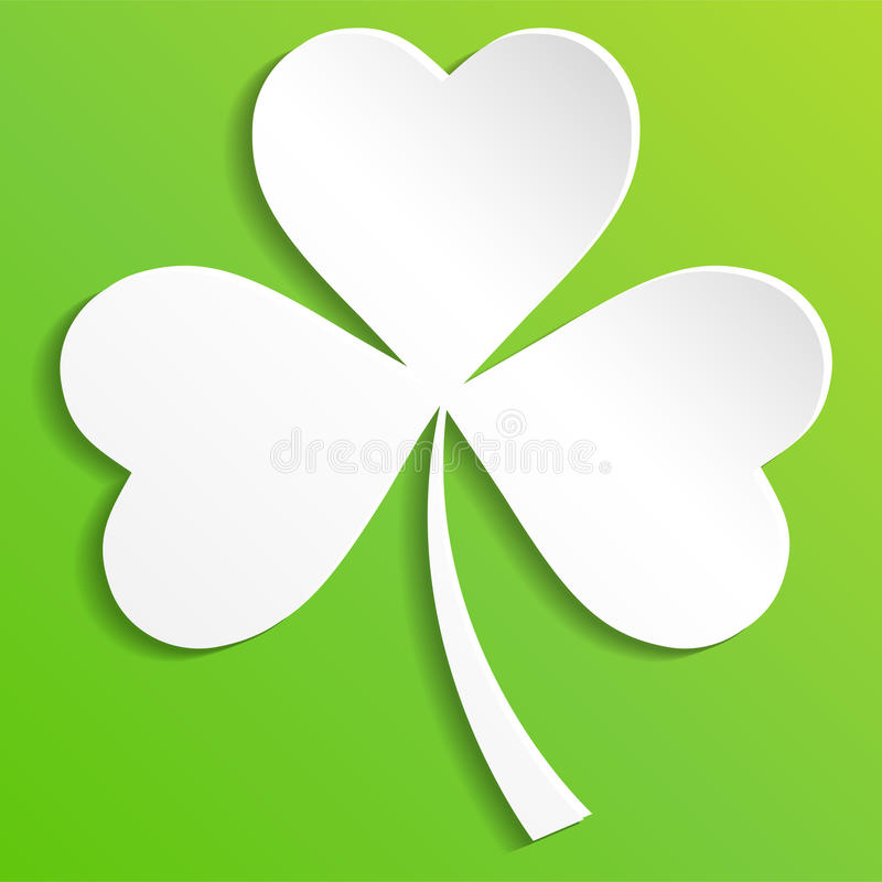 Irish shamrock leaves background for Happy St. Patrick`s Day. EPS 10 vector illustration