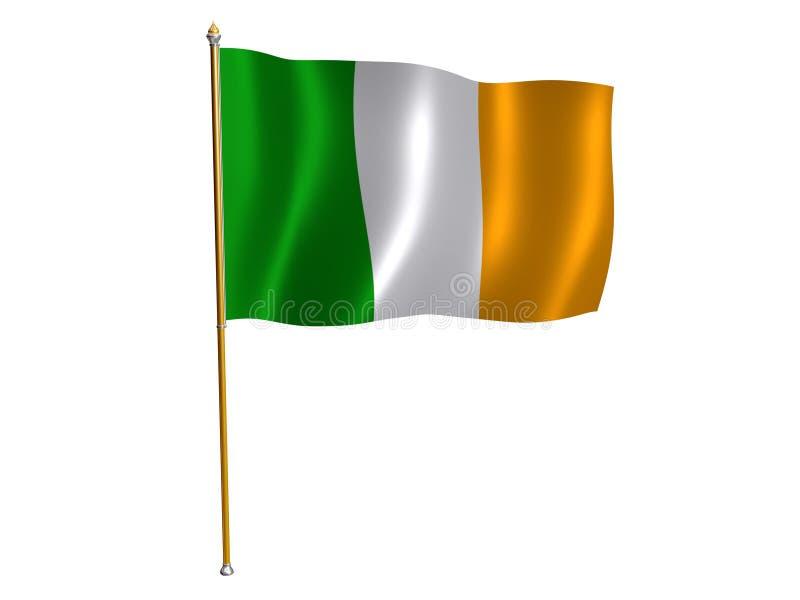 Irish silk flag. Silk flag of Ireland vector illustration