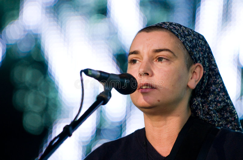Irish singer SINEAD O'CONNOR royalty free stock photos