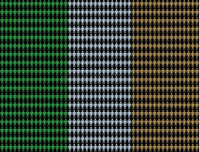 Download Irish workforce with flag stock illustration. Image of flag - 11991267