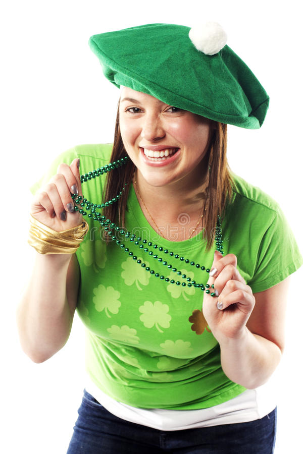 Download Irish Young Lady Dressed For St Patricks Day Stock Photo - Image: 26393680