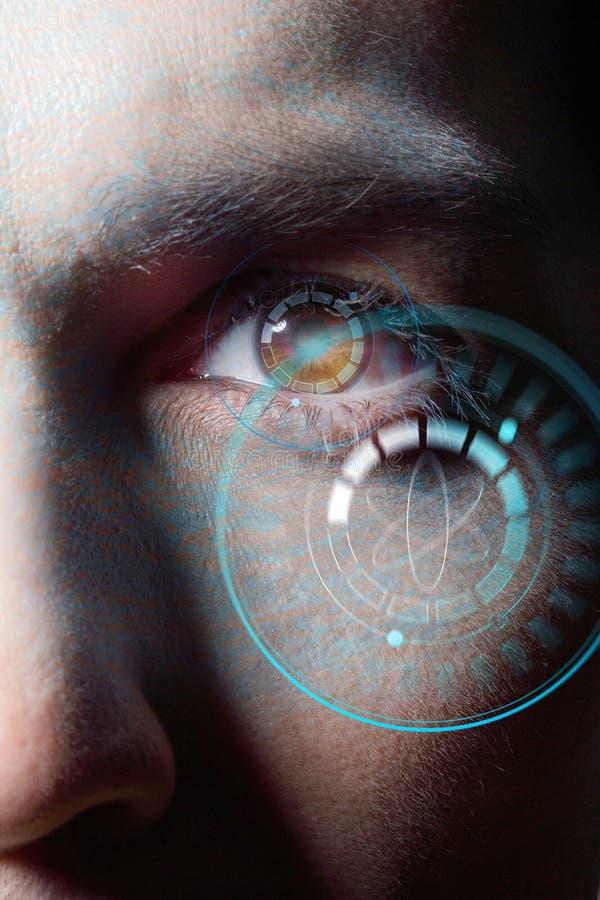 Irisidentifizierungssystem lizenzfreies stockbild
