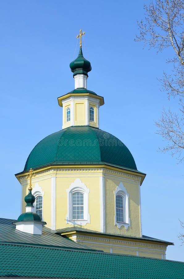 Irkutsk, abóbada da igreja da transfiguração do deus Em 1795 ano fundado fotos de stock