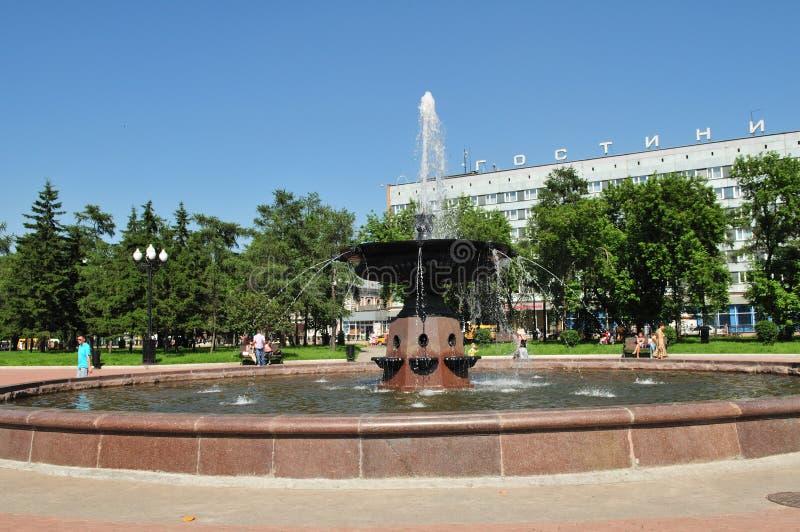 Download Irkutsk. Em uma fonte foto de stock. Imagem de água, cidade - 10065402