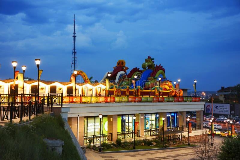 Irkutsk nella sera immagine stock libera da diritti