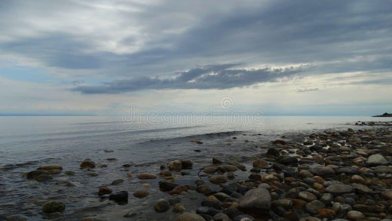 Irkutsk region. Baikal in the early morning stock image