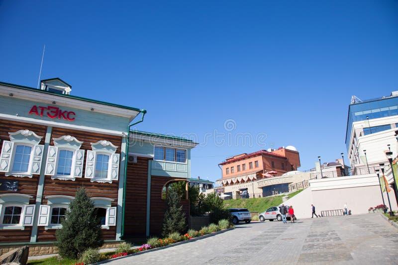Irkutsk Sloboda (130 fjärdedel), Ryssland royaltyfri fotografi