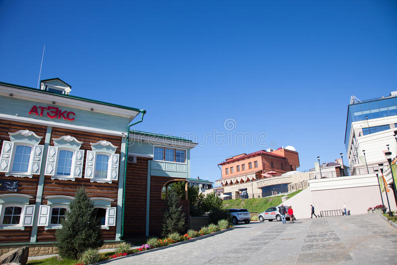 Irkutsk Sloboda (130 quarti), Russia fotografia stock libera da diritti