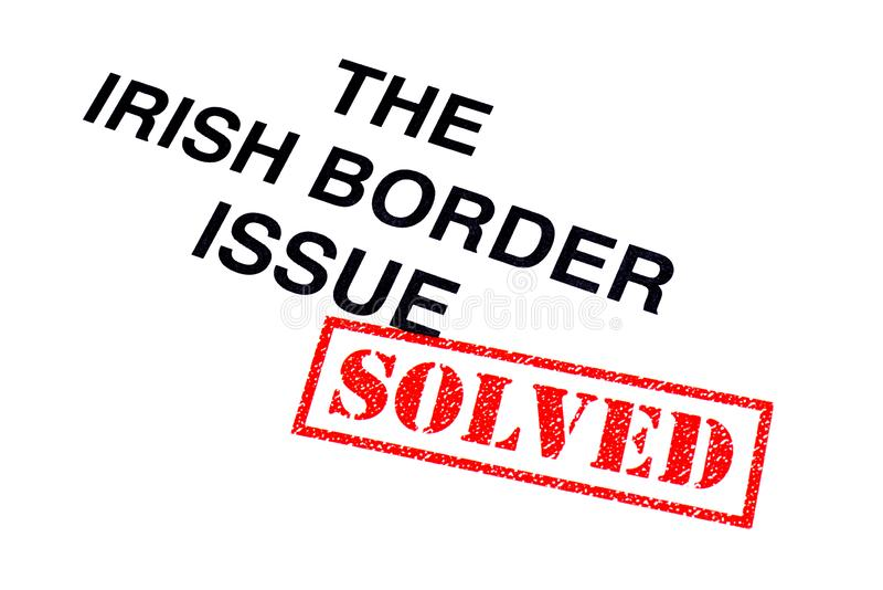 Irländsk löst gränsfråga royaltyfri illustrationer