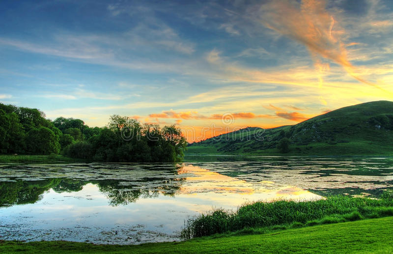 Irländsk magical solnedgång