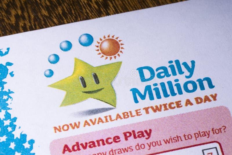 Irländsk nationell lotterilogo royaltyfri bild