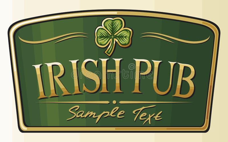 irländsk pub stock illustrationer