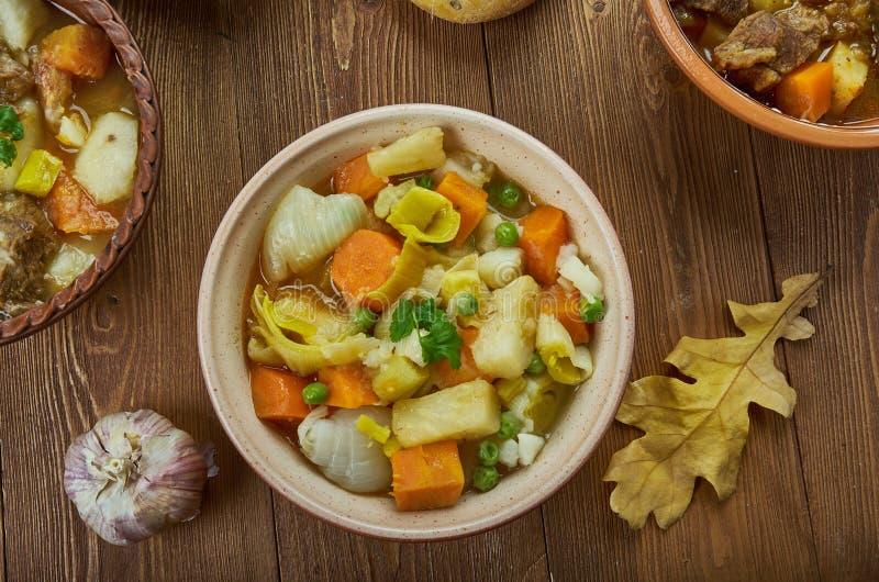 Irländsk ragu för strikt vegetarian royaltyfri foto