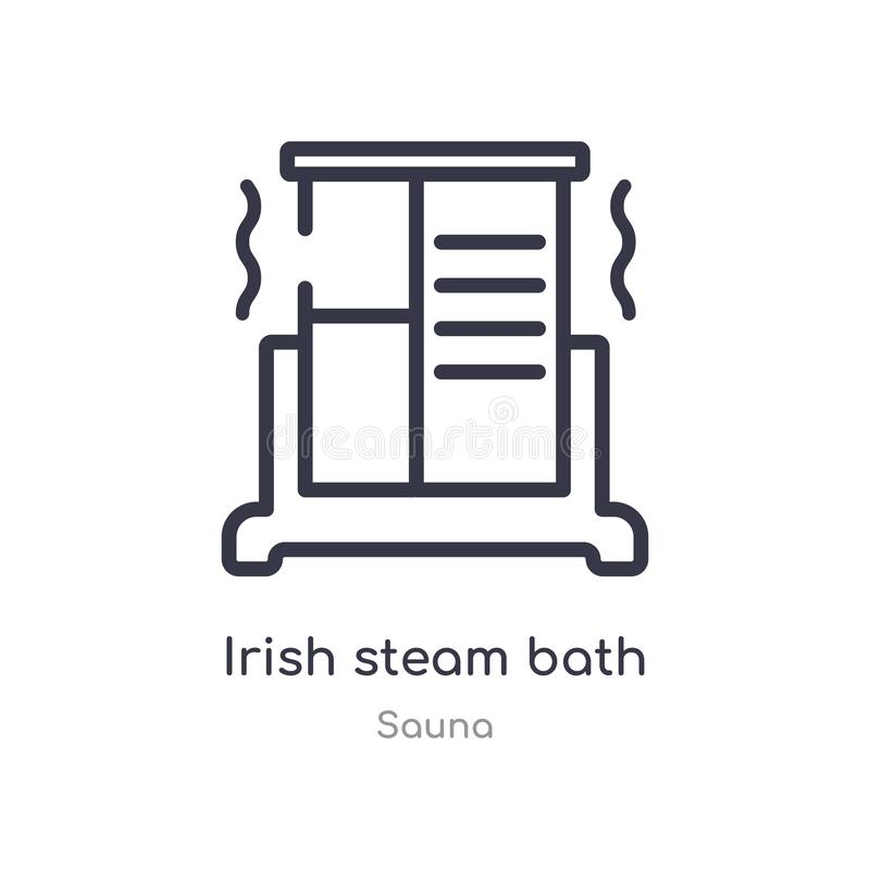 irländsk symbol för översikt för ångabad isolerad linje vektorillustration fr?n bastusamling för ångabad för redigerbar tunn slag vektor illustrationer