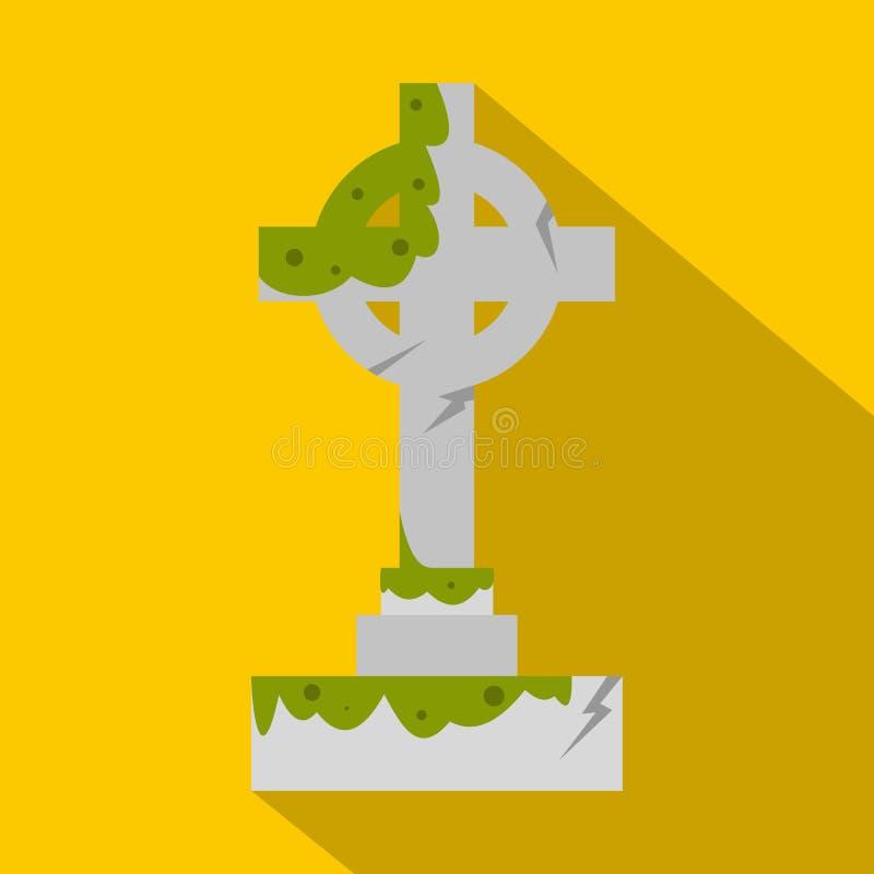 Irländskt celtic kors med den gröna slamsymbolen vektor illustrationer