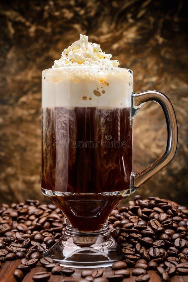 Irländskt kaffe arkivbild