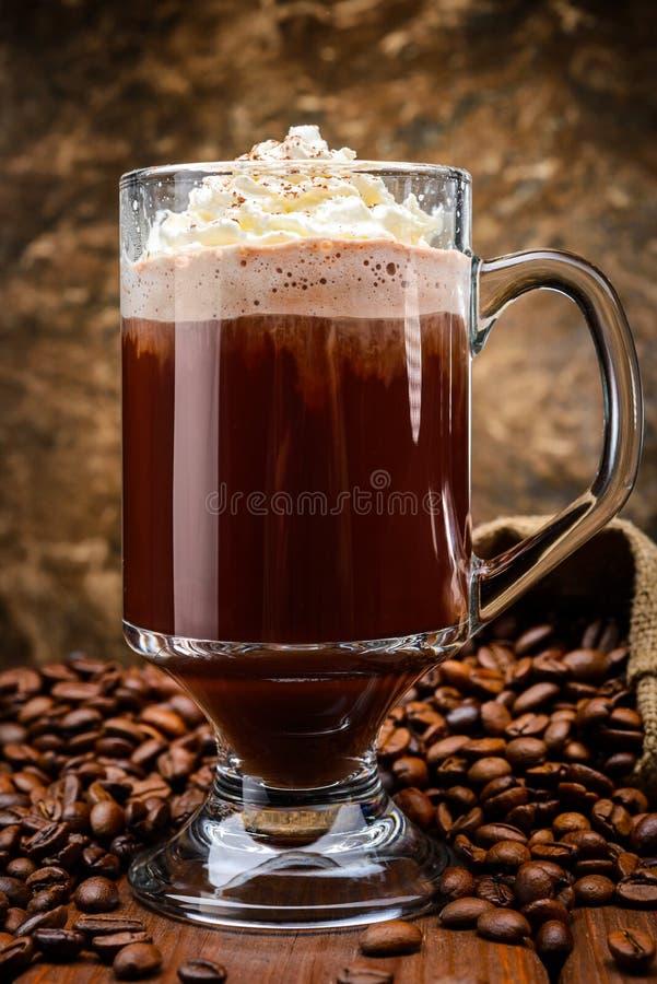 Irländskt kaffe royaltyfria bilder