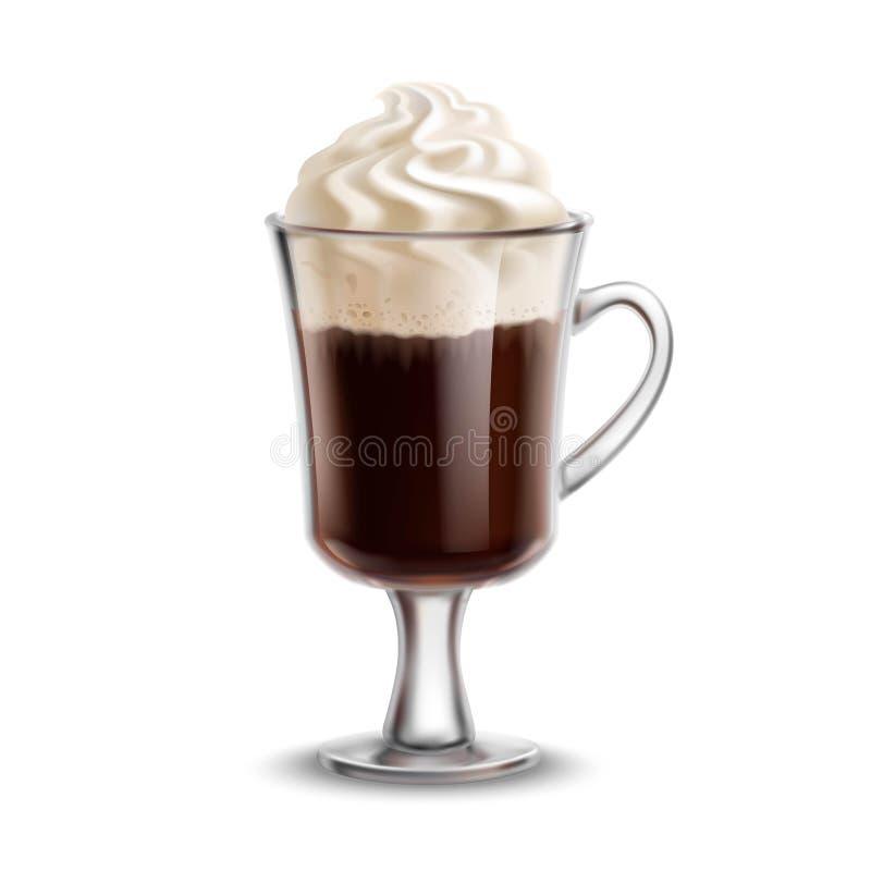 Irländskt kaffe royaltyfri illustrationer