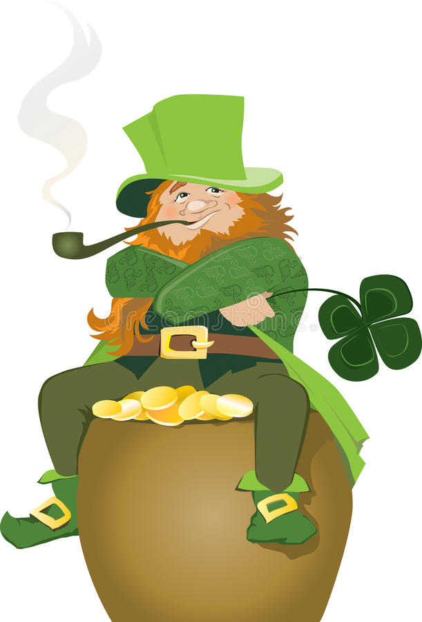 irländskt troll vektor illustrationer