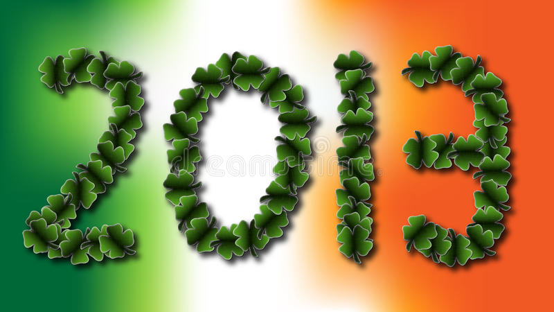 Irlandês 2013 ilustração royalty free