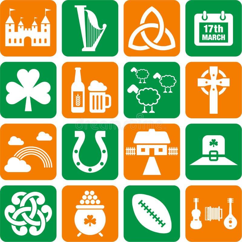 Irland-Ikonen stock abbildung