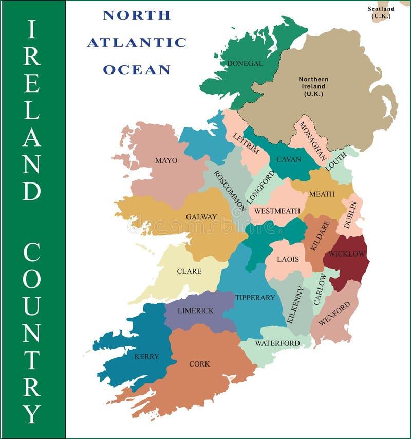Irland-Karte. vektor abbildung