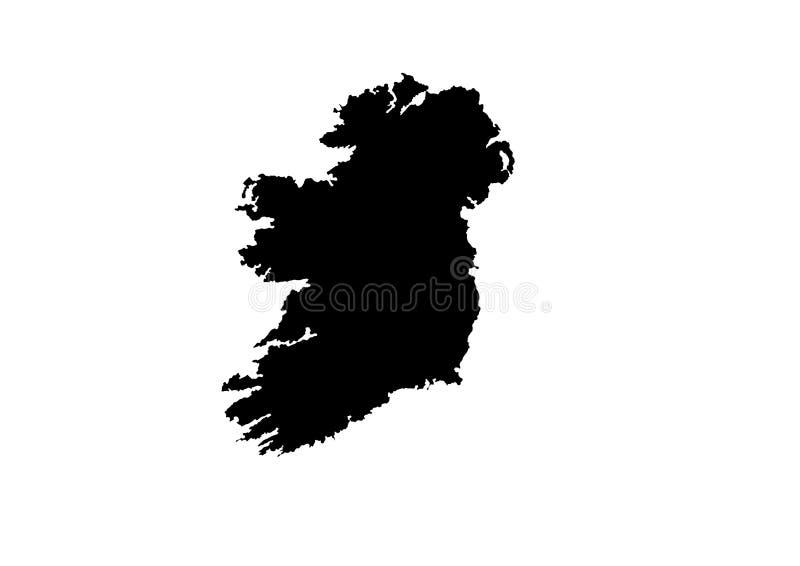 Irland-Staats-Karten-Vektorschattenbild stock abbildung