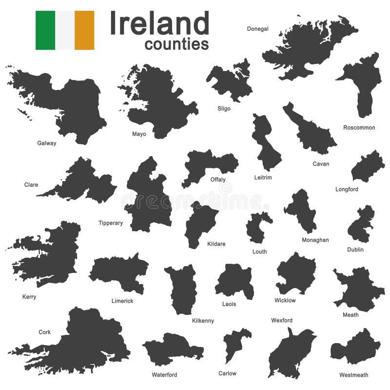 Irland und Grafschaften lizenzfreie abbildung