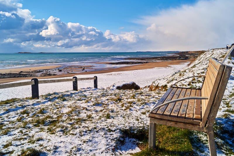 Irlanda da praia do inverno fotos de stock