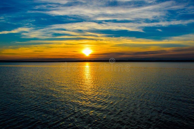 Irlanda de Derg do Lough do por do sol imagens de stock royalty free