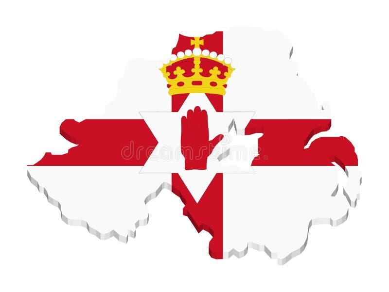 Irlanda del norte ilustración del vector