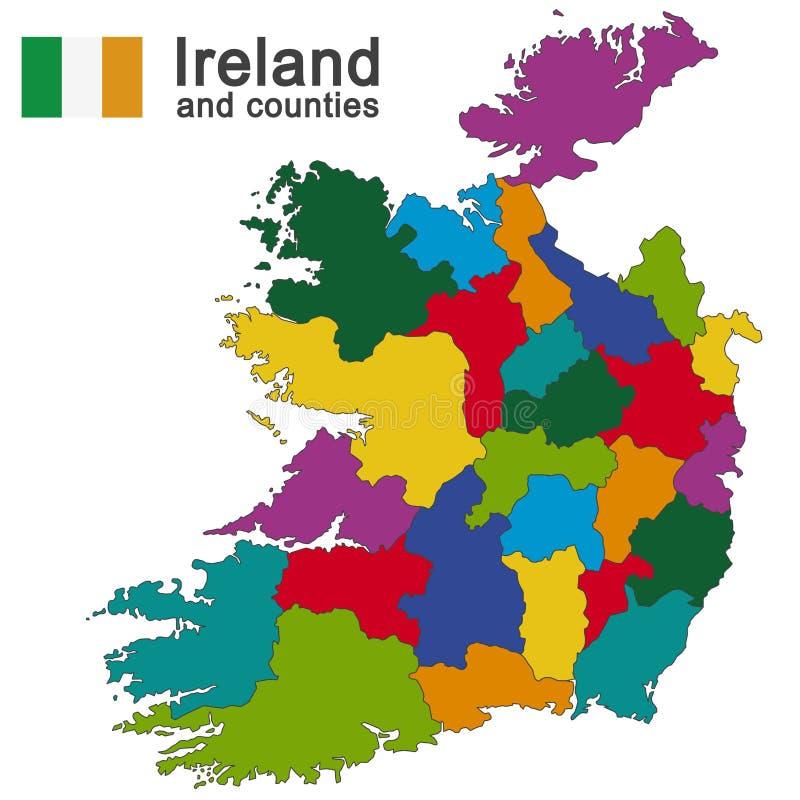 Irlanda e condados ilustração stock