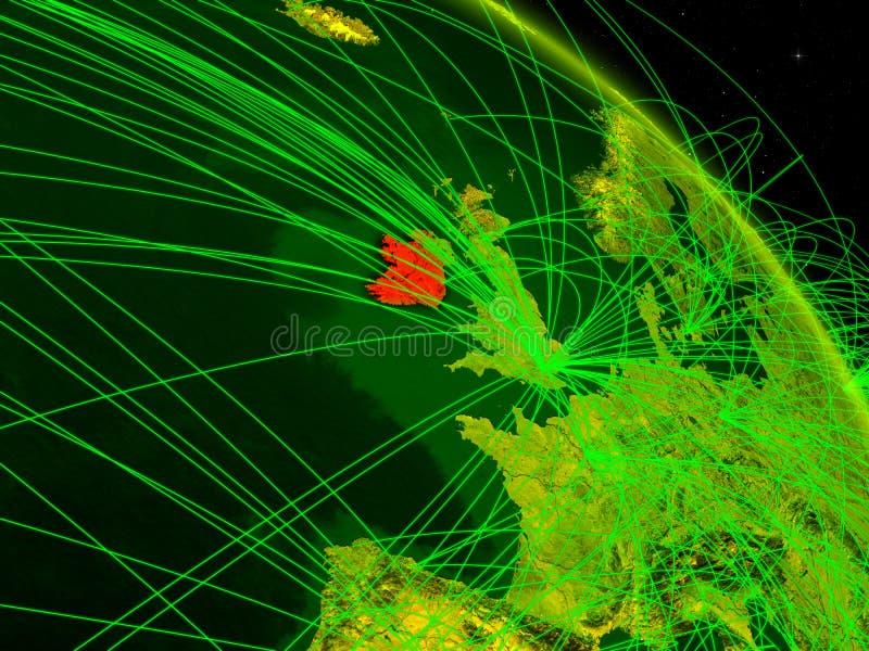 Irlanda en el globo digital ilustración del vector
