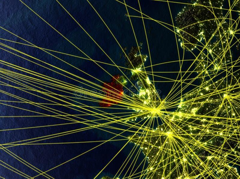 Irlanda en la tierra con las redes stock de ilustración