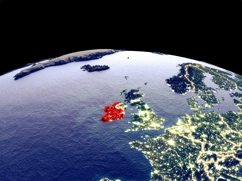 Irlanda en la tierra del espacio stock de ilustración