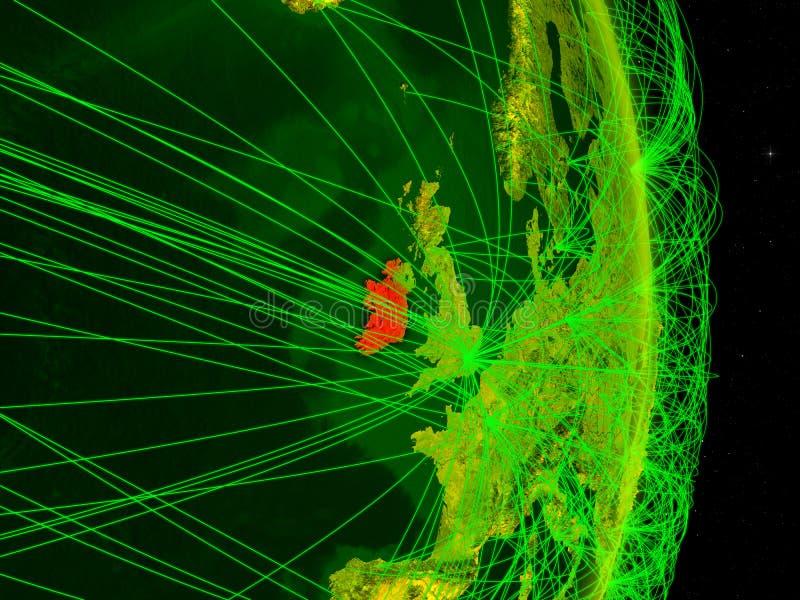 Irlanda na terra digital ilustração stock