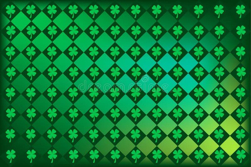 Irlandais Argyle d'oxalide petite oseille illustration de vecteur