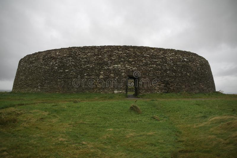 Irlandczyka Ringowy fort w Donegal aileach grianan obraz stock